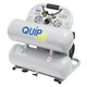 Quipall 4-1-SILTWN-AL 4.6 Gallon 1 HP Aluminum Twin Stack Ultra Quiet and Oil Free Compressor
