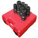 Sunex 5681 8-Piece 1 in. Drive SAE Deep Impact Socket Set