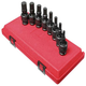 Sunex 2748 8-Piece 1/2 in. Drive SAE Universal Hex Bit Driver Impact Socket Set