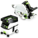 Festool PD561432 Plunge Cut Track Saw with CT MIDI 3.3 Gallon Mobile Dust Extractor