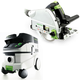 Festool P26561432 Plunge Cut Track Saw with CT 26 6.9 E Gallon HEPA Mobile Dust Extractor