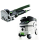 Festool P26574432 Domino Mortise and Tenon Joiner Set with CT 26 E 6.9 Gallon HEPA Mobile Dust Extractor