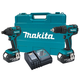 Makita LXT239 LXT 18V Cordless Lithium-Ion 1/2 in. Brushless Hammer Drill and Impact Driver Combo Kit