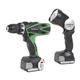 Hitachi DS14DSFL 14.4V Cordless HXP Lithium-Ion 3/8 in. Drill Driver Kit with Flashlight