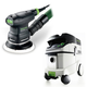 Festool P36571817 5 in. Random Orbital Finish Sander with CT 36 E 9.5 Gallon HEPA Mobile Dust Extractor