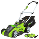Greenworks 25322 40V G-MAX Cordless Lithium-Ion 16 in. 2-in-1 Lawn Mower