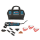 Bosch MX30EK-21 3.0 Amp Multi-X Oscillating Tool Kit with 21 Accessories