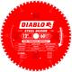 Diablo D1260F 12 in. 60 Tooth Steel Demon Ferrous Metals Saw Blade