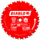 Diablo D0724X 7-1/4 in. 24 Tooth Framing Saw Blade