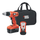 Black & Decker GCO18SFB 18V Cordless Drill with Stud Sensor and Storage Bag