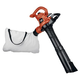 Factory Reconditioned Black & Decker BV3600R 12 Amp Two Speed Handheld Electric Mulcher Blower Vac