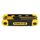 Stanley 90-391 17-Piece SAE and Metric Folding Hex Key