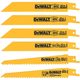 Dewalt DWA4894 6-Piece Metal/Woodcutting Reciprocating Saw Blade Set