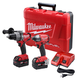 Factory Reconditioned Milwaukee 2797-82 M18 FUEL 18V Cordless Lithium-Ion 1/2 in. Hammer Drill Driver and Impact Driver Combo Kit