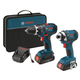 Bosch CLPK234-181 18V Cordless Lithium-Ion 1/2 in. Drill Driver and Impact Driver Combo Kit