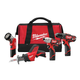 Factory Reconditioned Milwaukee 2498-84 M12 Lithium-Ion 4-Tool Combo Kit
