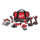 Factory Reconditioned Milwaukee 2696-86 M18 18V Cordless Lithium-Ion 6-Tool Combo Kit