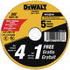 Dewalt DW8062B5 4-1/2 in. x 0.045 in. Metal and Stainless Steel Cutting Wheels (5-Pack)