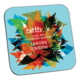 3.5 Square Full Color Laminated Coaster - .125 Rubber Backing