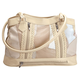 Five Pocket Cream Patch Leather Shoulder Bag