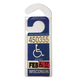 Handicap Placard Hanger, Clear