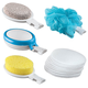 15 Piece Interchangeable Bath Sponges With Handle