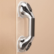 Chrome Suction Grip Shower Grab Bars