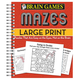 Brain Games Large Print Mazes