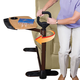Swiveling Stand Assist Tray Table Brown