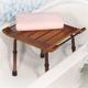 Adjustable Height Teak Bath Bench