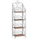 Four Tier Wicker & Metal Shelves by OakRidge Accents XL