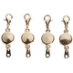 Locking Magnetic Jewelry Clasps - Set of 4
