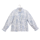 Blue and White Patterned Bed Jacket