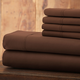 Hotel 5th Ave Solid Color Microfiber Sheet Set, Chocolate