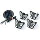 Inground Solar Butterfly Lights Set of 4