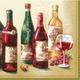 Wine Bottles Paper Cocktail Napkins