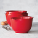 Sur La Table® Red Mixing Bowls, Set of Three