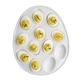 White Porcelain Egg-Shaped Egg Platter