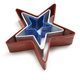 Red, White and Blue Star Cookie Cutters, Set of 3
