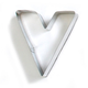 Letter V Cookie Cutter, 3