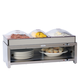 Stainless Steel Warming Cabinet and 3 Pans with Lids