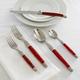 Dubost Red Laguiole Flatware, 20-Piece Set