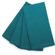 Teal Hemstitch Dinner Napkins, Set of 4