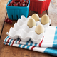 White Ceramic-Crate Egg Holder