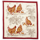 Red Rooster Block-Print Napkin