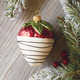 White Chocolate Dipped Strawberry Ornament