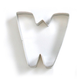Letter W Cookie Cutter, 3