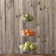 Sur La Table® 3-Tier Brushed-Aluminum Hanging Basket