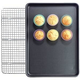 Chicago Metallic® Nonstick Half Sheet Pans and Cooling Grid Set