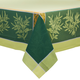 Olive Green Jacquard Tablecloths